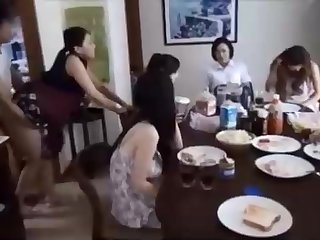 Naughty Chinese ally is banging his wifey in bill of his family, and loving it