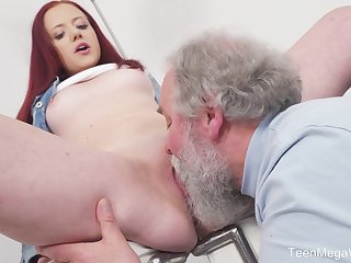 Young Tiffani Love gets fucked by a elder guy and she loves it