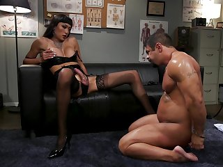 Medial Asian shemale ass fucks man thither dirty manners