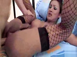 juicy asian Ladyboy In nylons drilled admirable