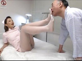 Japanese nurse gets fucked by hard patient's dick in the sanitarium