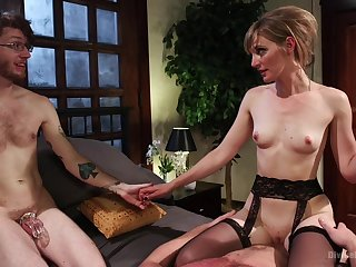 Skinny MILf wants to fuck with hubby painless a witness