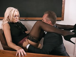 Headmaster enjoys gender anal hole of smoking hot teacher Kenzie Taylor