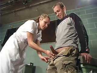 Strict Mistress Harmony is fucking anal hole of submissive dude