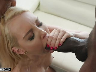 The size of the black cock Aaliyah Love tackles is simply striking