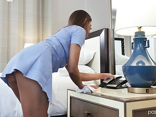 Full service maid Jade Reign serves partial to man get a bang nobody else before