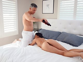 Hot ass Kendra Spade massaged and fucked by the obese dick guy