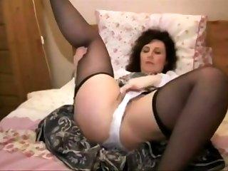 MILF Lexa adult unattended masturbation