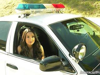 Sexy and hot Eliza Ibarra in CV porn video close to slutty cops