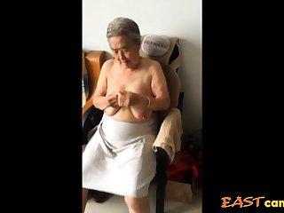 Asian 80+ Granny Monitor bath