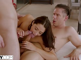 Assistant Gets Double Penetrated Apart from Boss And His Join up