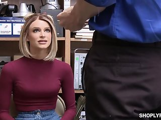 Emma Hix was caught shoplifting, so she ended up fuked good,to learn her lesson