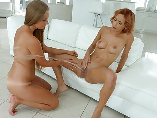 Electrifying squirting and fisting be worthwhile for gorgeous Kinuski and Veronica Leal