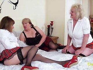 OldNannY Two Lesbian British Mature Porn Actresses