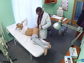 Water down examines his hot blonde patient Lilith with his hollow out