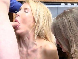 Blond mom caught masturbating Suspects grandmother was