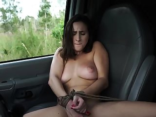 French mademoiselle bondage and huge dildo domination This new