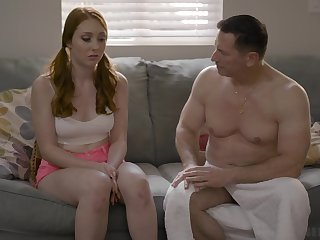 Old timer is fucking on all sides of holes of 19 yo virgin Arietta Adams increased by cums down her mouth