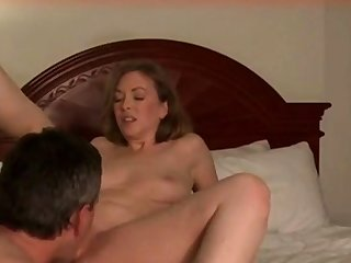 flakes up her cum-covered pussy