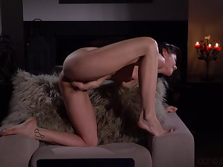 Solo model To the point Caprice moans while masturbating sisterly