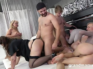 Really dropped orgy with improper like mud grown-up whores thirsting for orgasm