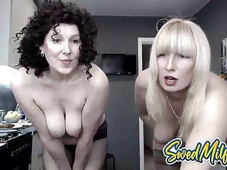 Swedish Milf Mom and Hot Son Portray Their Pussies