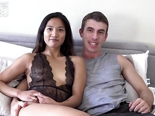 Tina Torres decided to affect her best lingerie for Joel Gordo, before riding his fixed dick