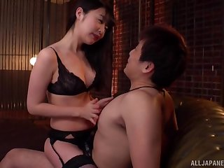 Japanese hottie Tsubomi gives hound and gets fucked from behind