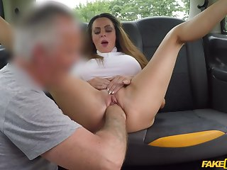 Fake taxi back keister anal shag for this top woman
