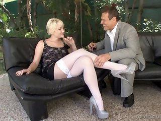 Brutal video be incumbent on and older guy having coitus roughly desirable Nora SKyy