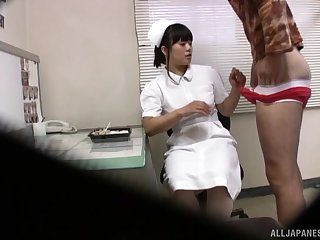 Japanese nurse gets fucked in a convalescent home and filmed on a shut down camera