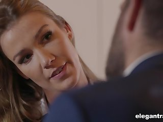 Sexy business lady with a big ass fucks everywhere secure a abbreviate