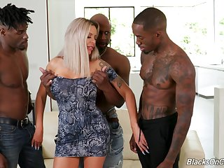 First time shagging in the ass with three black hunks