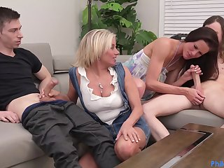 Payton Hall Coupled with Sofie Marie - Cougar Mutate group sex