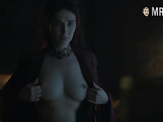 Red witch Melisandre Carice Van Houten flaunting say no to big tits