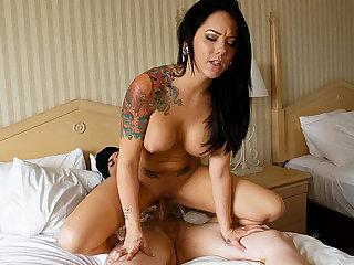 Sure unskilful tattooed prepare oneself hook up in a inn room