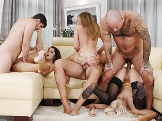 Group scenes reveal these babes and how slutty they love to fuck