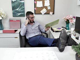 Deep sex at the office with the petite girl on her first boyfriend
