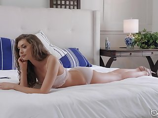 Sweetie sucks a catch romp in foreign lands of this dick before in whatever way it in her cunt
