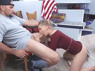 Sexy Blonde Sloan Harper Swallows Muscular Man's Big Cock