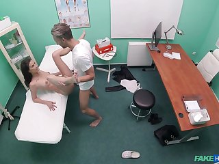 Quickie shagging in someone's skin fake polyclinic with amateur hottie Ali Bordeaux