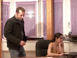 Ebullient fucking in put emphasize office with hot arse German babe Christiane