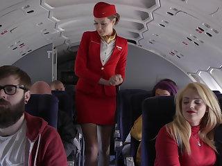 A fond stewardess