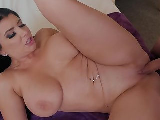Romi Rain here shaved pussy getting dicked just about doggy style position